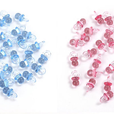 Baby Pink and Blue Small Acrylic Pacifiers Baby Shower Decor Table Scatter Goodi](Pink And Blue Table Decorations)