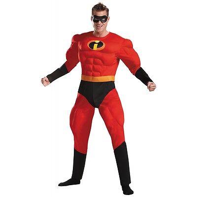 Mr Incredible Costume Adult Superhero The Incredibles Halloween Fancy Dress