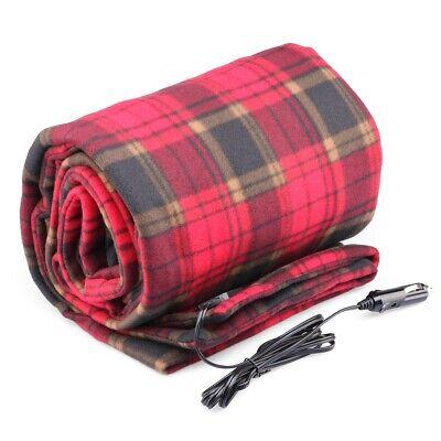Heated Electric Warming Micro Plush Red Buffalo Plaid Throw Blanket Biddeford US