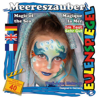 Eulenspiegel Motiv-Set Meereszauber, Schmink-Set mit Schmink-Anleitung, 1 Pinsel