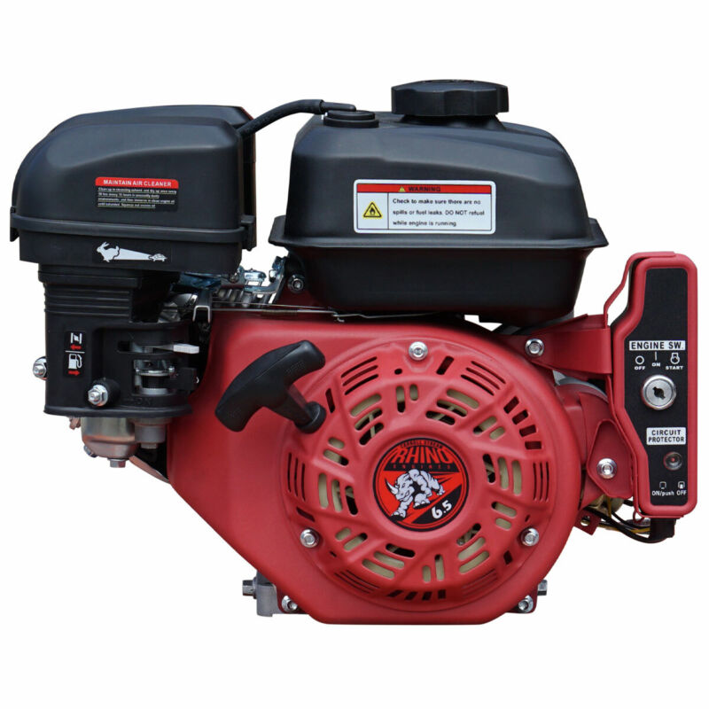 New 6.5HP Gas Engine Cast Iron Sleeve E-Start 6.5 HP Carroll Stream Motor Co.