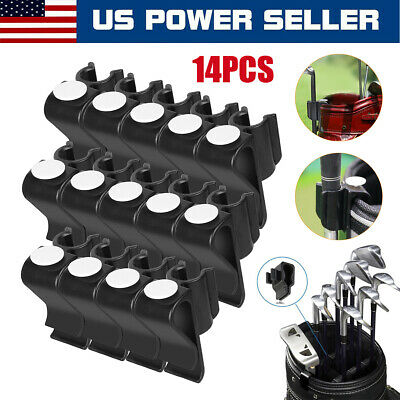14x Plastic Golf Club Organizer Clip Putter Bag Holder Iron Driver Protector Set