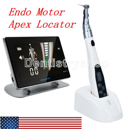 Dental Wireless LED Endo Motor Treatment 16:1 Contra Angle+4.5 LCD Apex Locator