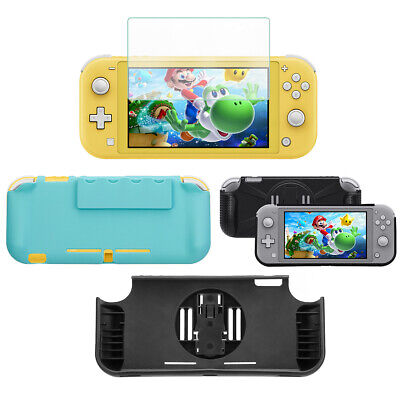 For NIntendo Switch Lite Grip Back Case Cover & Tempered Glass Screen Protector