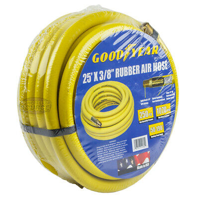 """Goodyear Rubber Air Hose 25' ft. x 3/8"""" in. 250 PSI Air Compressor Hose 12182"""