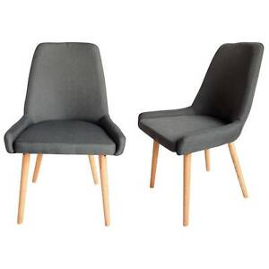 Archer Charcoal Fabric Dining Chair Set of 2 Kingswood Penrith Area Preview