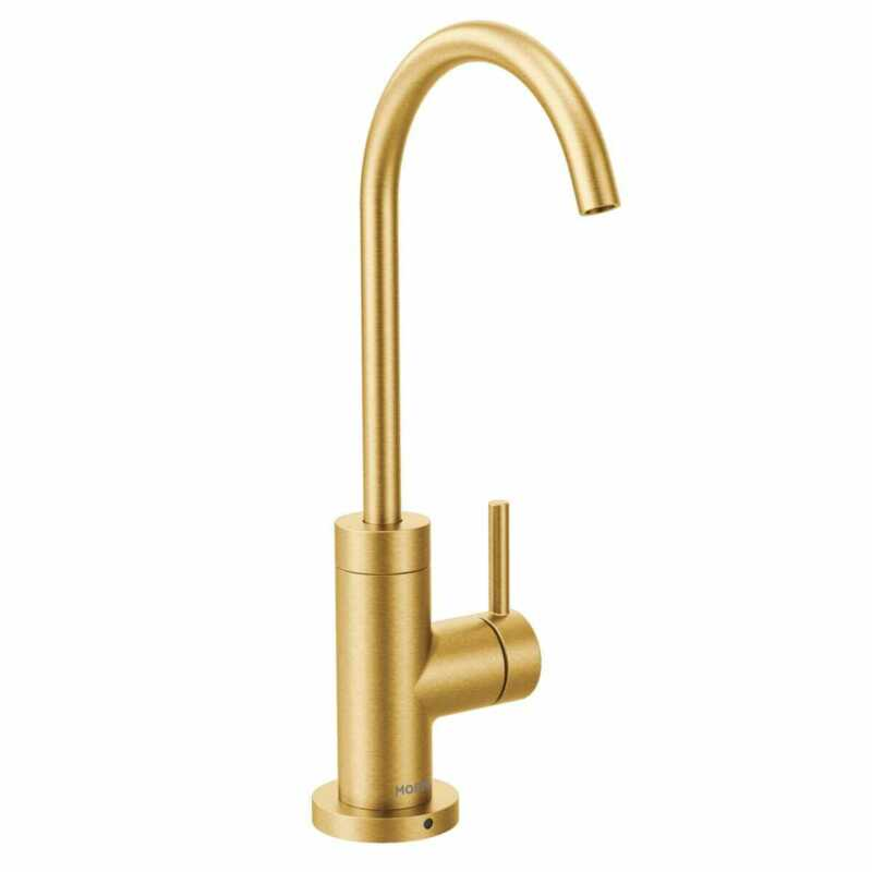 Moen S5530BG Sip 1.5 GPM Single Hole Cold Water Dispenser, Brushed Gold