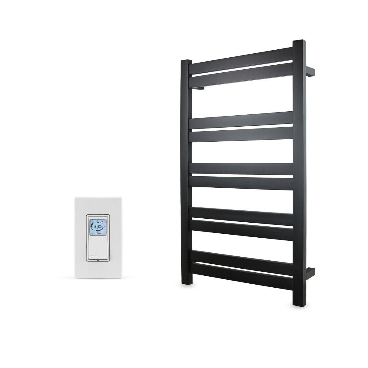 black towel warmer hardwired 10 bars programmable