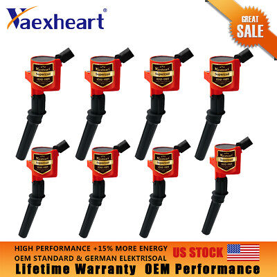8 Pack High Performance Ignition Coil For Ford F150 F250 F550 4654L V8 DG508