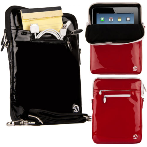 Patent Leather Vertical Cross-body Shoulder Bag For Ipad ...