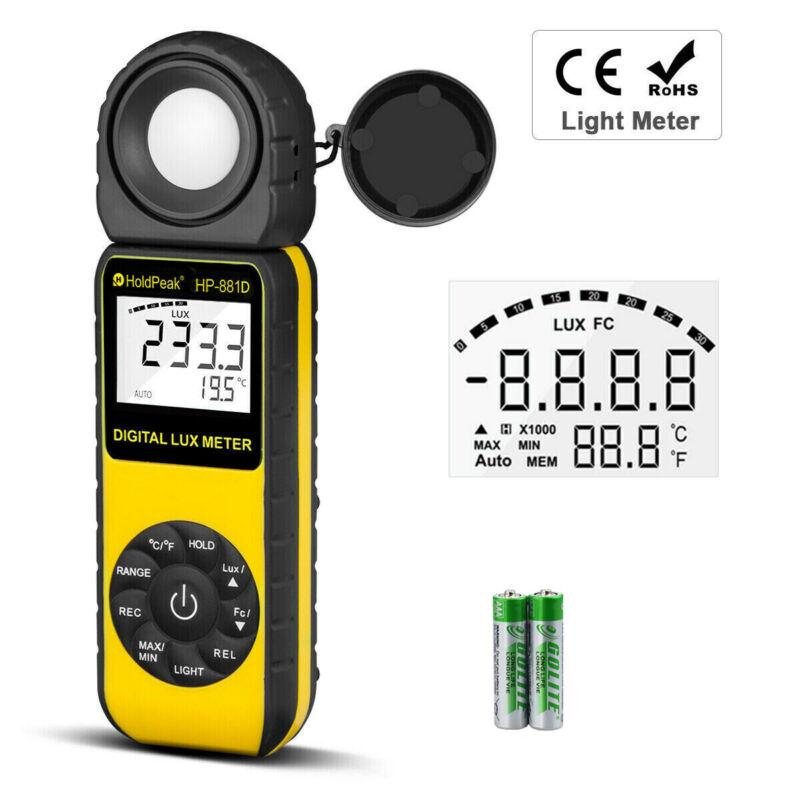 HoldPeak Light Meter 0.1 Lux Photometer Illuminometer 400,000Lux Detector 881D