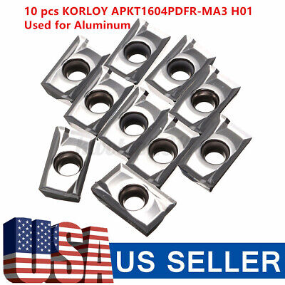 Korloy Carbide Milling Inserts one box NEW 10pcs APGT1604PDFR-G2-MA H01