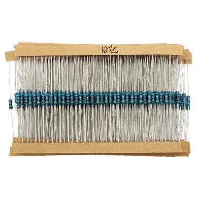 2600pcs 130 Values 14w 1 0.25w Metal Film Resistors Resistance Assortment Kit