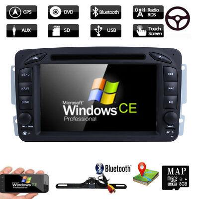 2DIN Autoradio GPS NAVI DVD DAB+ Für MERCEDES BENZ G-W463 A-Klasse W168 CLK-W209