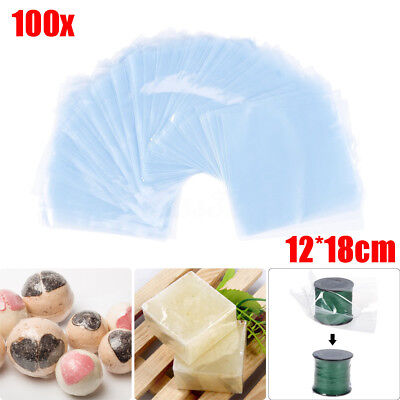 100pcs 5x7 Clear Heat Shrink Wrap Films Heating Seal Packaging Protectors Bags