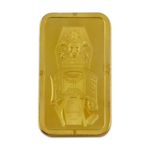 Master Mason Gold Bar Masonic Coin - [Gold][2