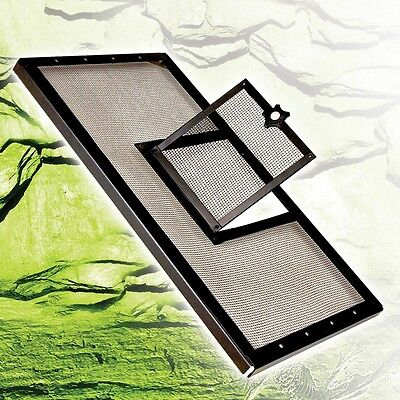 (Zilla Fresh Air Reptile Terrarium Screen Covers W/hinged door 4 size available)