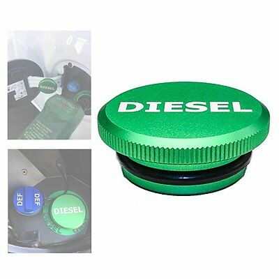 Diesel Billet (1PC Green Diesel Billet Aluminum Fuel Cap Magnetic for 2013-2016 Dodge)