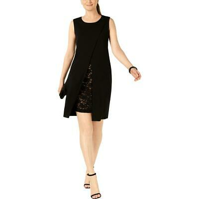 womens cocktail crepe sleeveless sheath dress bhfo