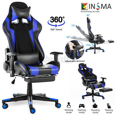 Office Chair Executive Computer Desk Racing Gaming Chairs 180 High Back Swivel