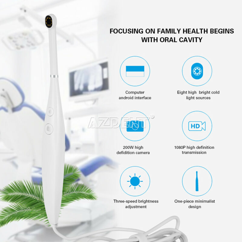Dental 8 LED Light USB Intraoral Camera Oral Endoscope Real-time Video 3-Speed