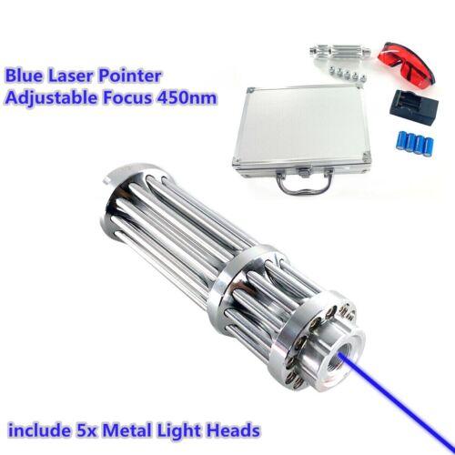 450nm Strong High Laser Pointer Adjustable Focus Handheld La