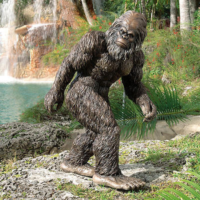 "Design Toscano Exclusive Hand Painted 28½"" Bigfoot The Garden Yeti Statue"