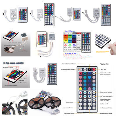 Rgb Led Strip Controller - 24 44 Key IR Remote Controller DC 12V for RGB LED 3528 5050 SMD Strip Lights #US