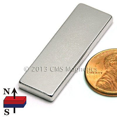 Cms Magnetics Strong N45 Neodymium Bar Magnet 1.5x 12x 18 10-pc