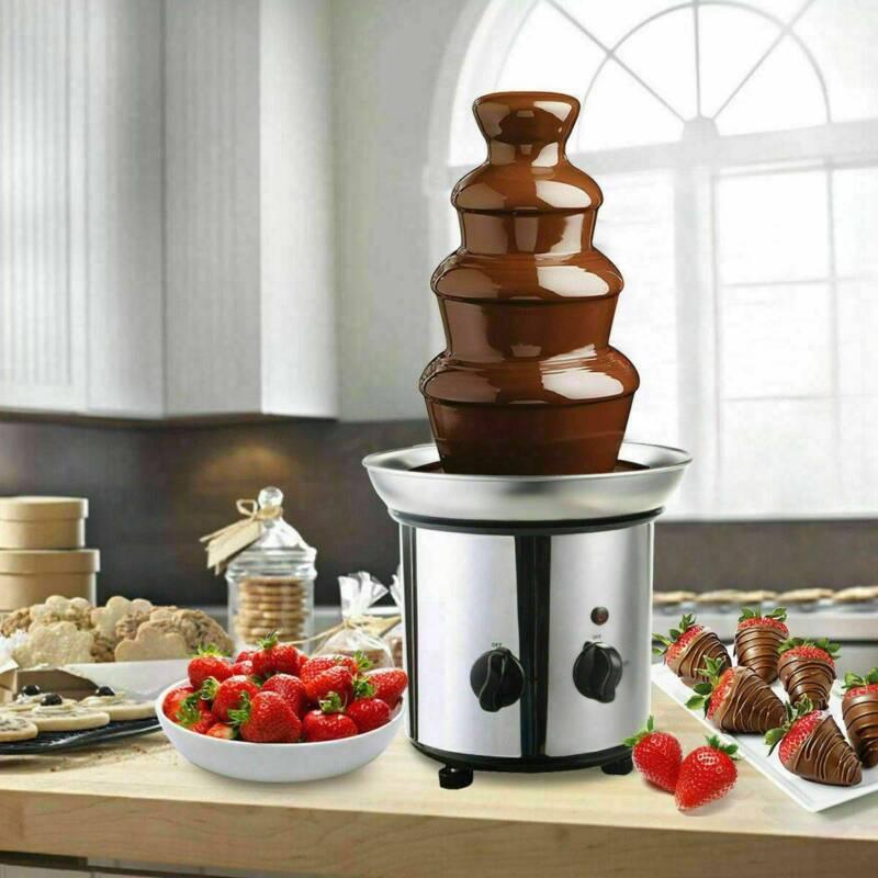180w 4 tiers chocolate fondue fountain stainless
