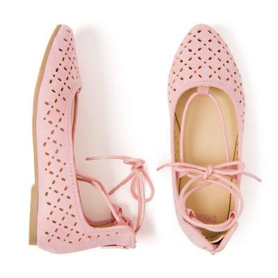 NWT Gymboree Pink Lace Up Flats Shoes Toddler and Kids Girl Sizes](Girl Flats Shoes)
