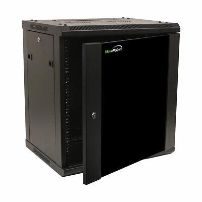 12U Wall Mount Network Server 19 Inch IT Cabinet Rack Enclosure Glass Door Lock comprar usado  Enviando para Brazil