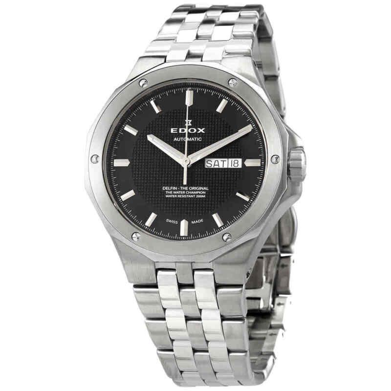 Edox Delfin Automatic Black Dial Men Watch 88005 3M NIN