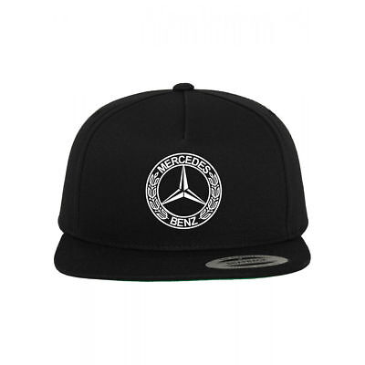 Mercedes Benz Logo Snapback Hat Adjustable Baseball Cap New - Black