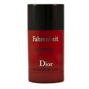 Fahrenheit Men Christian Dior Alcohol Free Deodorant Stick 2.6 oz - New & Fresh