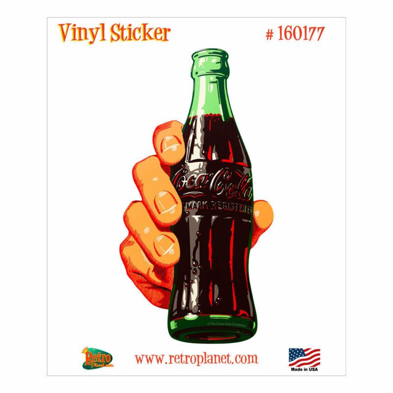 Coca-Cola Contour Bottle In Hand Vinyl Sticker