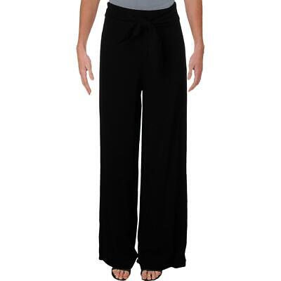 Aqua Womens Belted Dressy Special Occasion Wide Leg Pants Trousers BHFO 6202