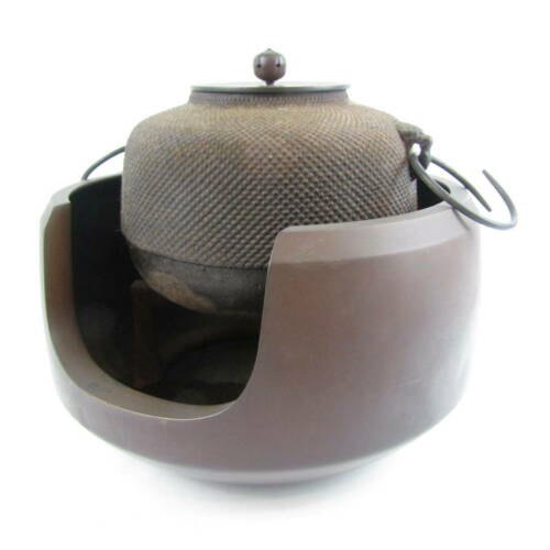 Chagama Iron Kettle Tea Ceremony Sado Japanese Traditional Crafts F/S