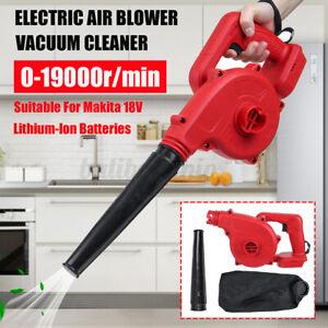 For Makita 21V Battery Cordless Blower Vacuum Leaf Dust Power Tool Yard Garden