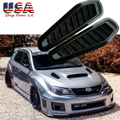 JDM Black ABS Sporty Racing Air Flow Vent Bonnet Hood Scoop Cover Trim Universal
