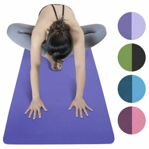 """72"""" Thick Yoga Mat Gym Camping Non-Slip Fitness Exercise Pilates Meditation Pad"""