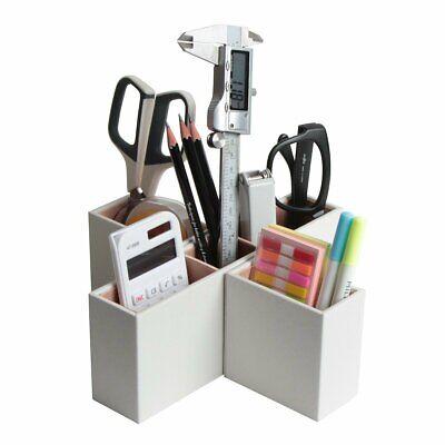 Pu Leather Sectional Desk Organizer Multi Use Home Closet Remote Control Holder