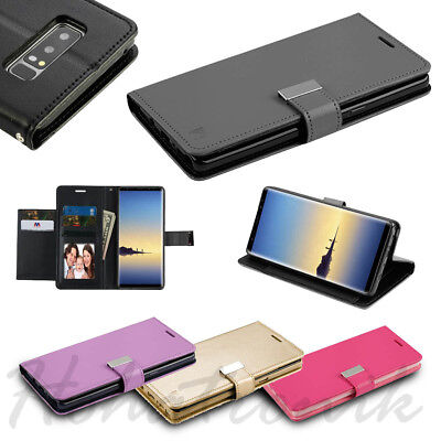 For LG Stylo 4 Cards Holder Fold Leather Wallet Flip Dual Phone Case Cover Pouch - Leather Dual Pocket