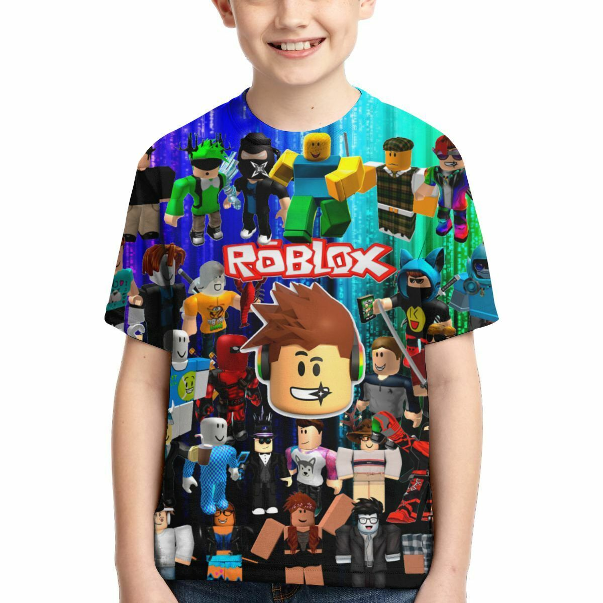2019 Summer Boys T Shirts Roblox Gamer Cotton T Shirt Girls Roblox Characters Kids Youth T Shirt Boys Summer Short Sleeve Tops Game Tees Ebay