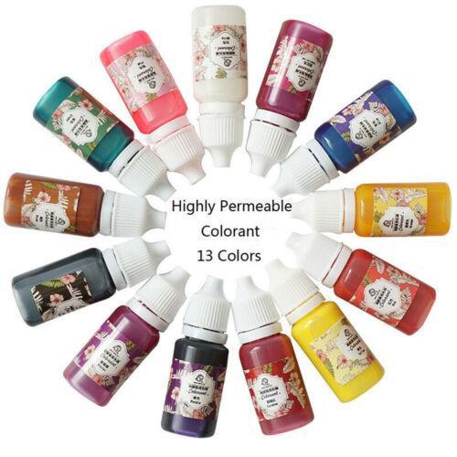 13 Colors 10g Epoxy UV Epoxy Dye Resin Coloring Colorant Pigment Mix Color DIY