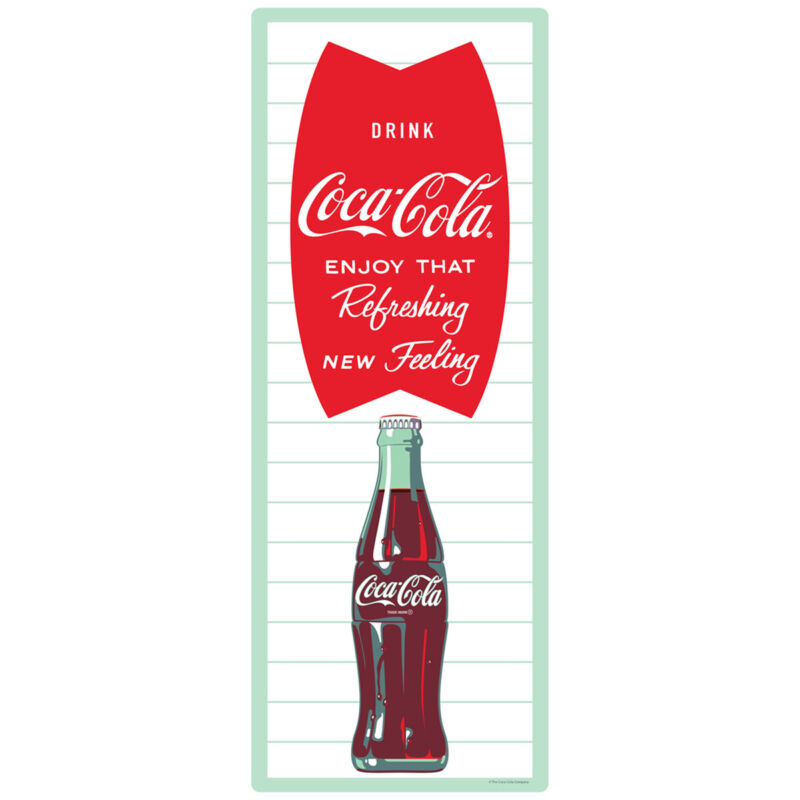 Coca-Cola Fishtail Green Bottle Wall Decal 8 x 24 Vintage Style Kitchen Decor