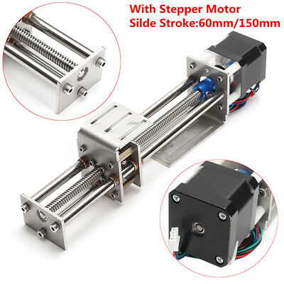 Ball Screw Linear Slide Guide 100-300mm Z Axis Actuator Stepper Motor Damper Cnc