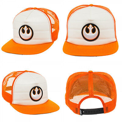Star Wars Rebel Alliance Trucker Orange Hat Cap LOGO Snapback Costume Hat](Star Wars Rebel Costume)