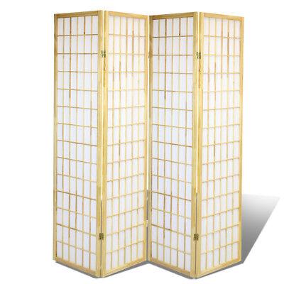 4 Panel Shoji Screem Room Divider/Privacy Wall With Rice Paper Screen Natural - Natural Room Divider Shoji Screen