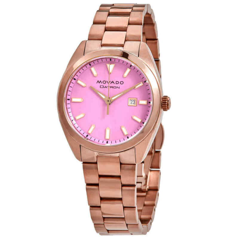 Movado Heritage-Datron Quartz Pink Dial Ladies Watch 3650079